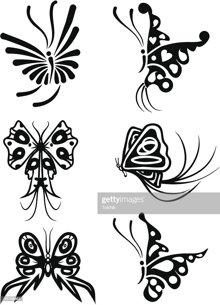 Element for design, butterfly, vector