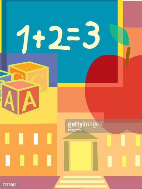 ilustraciones, imágenes clip art, dibujos animados e iconos de stock de elementary school - edificio de escuela primaria