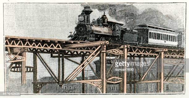 ワンランク上の蒸気機関車 - 1890~1899年点のイラスト素材/クリップアート素材/マンガ素材/アイコン素材