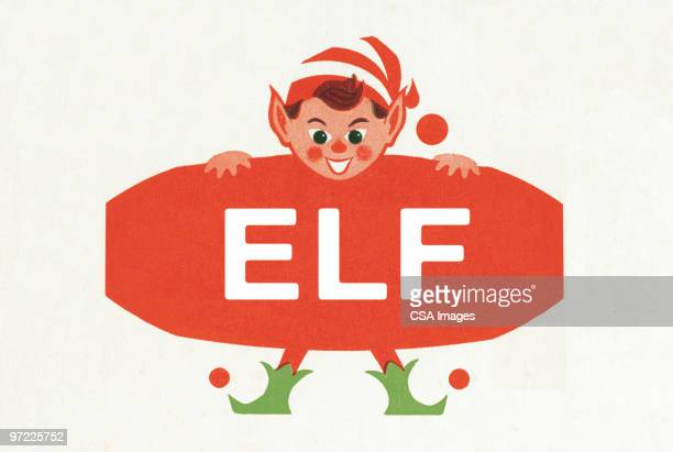 Elf with Sign