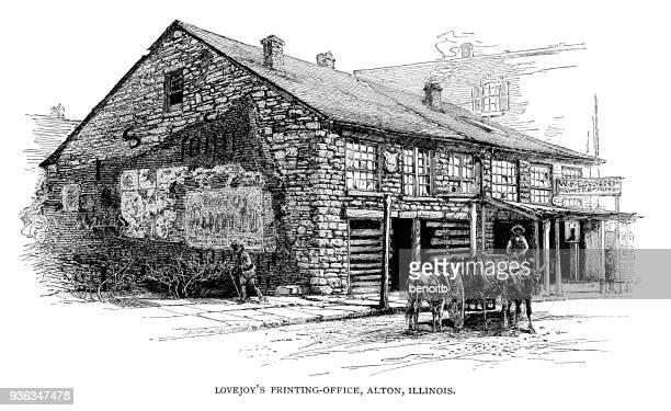 Elijah Lovejoy's Printing Office in Alton Illinois