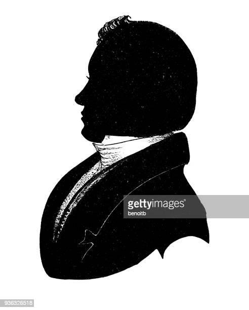 Elijah Parish Lovejoy silhouette
