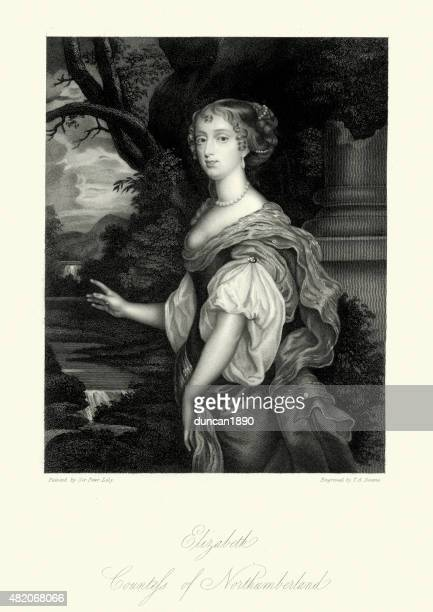 elizabeth percy, countess of northumberland - northumberland stock illustrations, clip art, cartoons, & icons