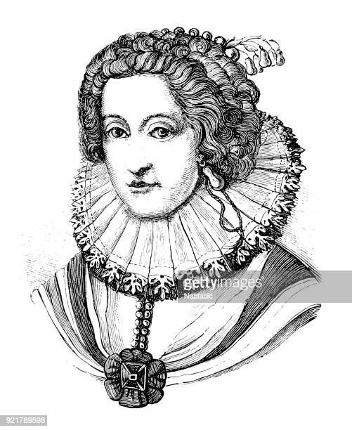 elizabeth stuart (19 august 1596 – 13 february 1662) was electress of the palatinate - medieval queen crown stock illustrations