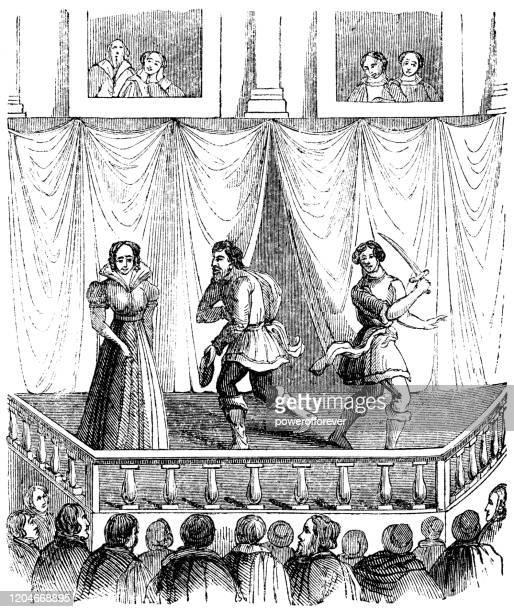 エリザベス・ルネッサンス劇場 17世紀 - 16世紀のスタイル点のイラスト素材/クリップアート素材/マンガ素材/アイコン素材