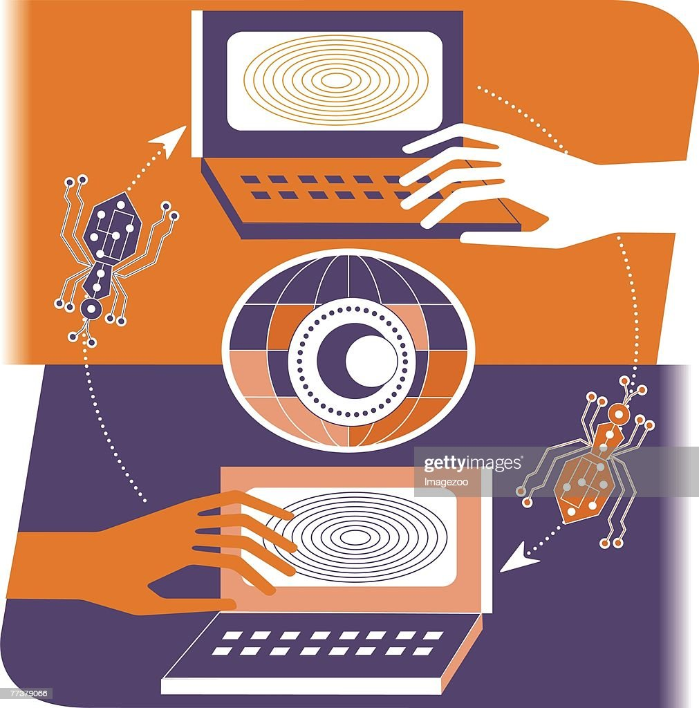 email bugs : Stock Illustration