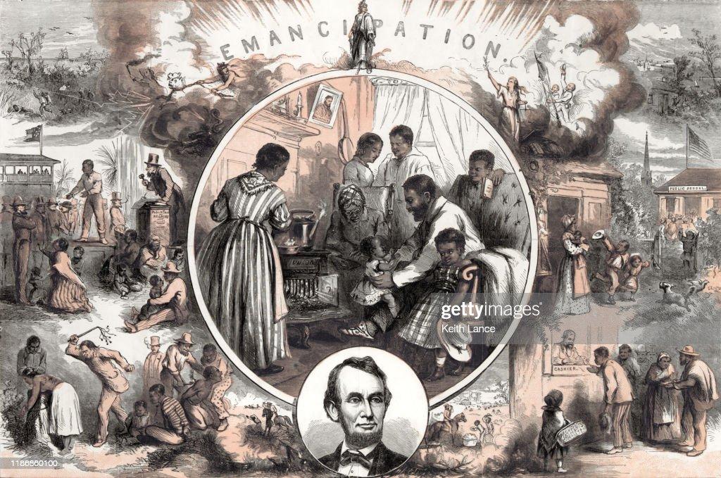 Emanzipation nach dem amerikanischen Bürgerkrieg : Stock-Illustration