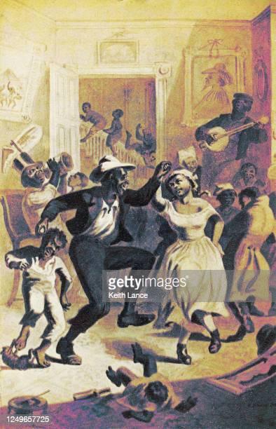 emancipation of the slaves - texas stock illustrations