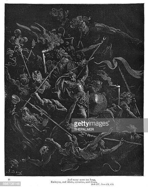 ilustraciones, imágenes clip art, dibujos animados e iconos de stock de embryos, idiots and eremites 1885 - los siete pecados capitales