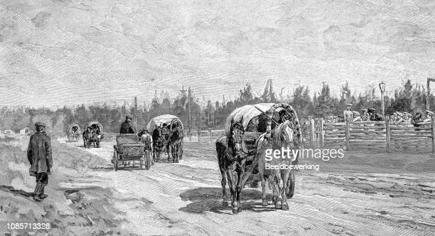 emigrants on the move illustration 1895 'the Earth and her People'