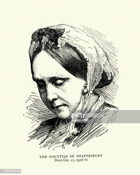 emily ashley-cooper, countess of shaftesbury - ashley grace stock illustrations