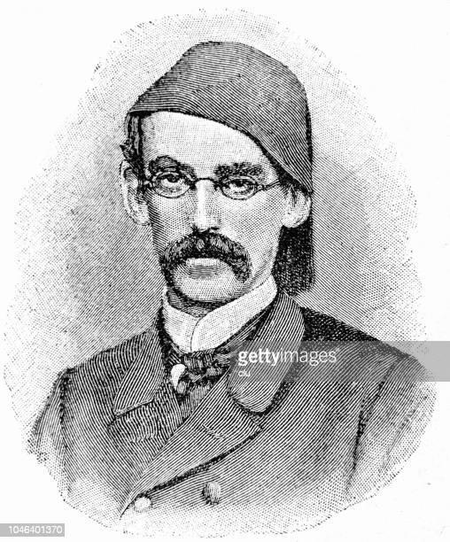 emin pascha, german african researcher, 1840-1892 - governor stock illustrations, clip art, cartoons, & icons