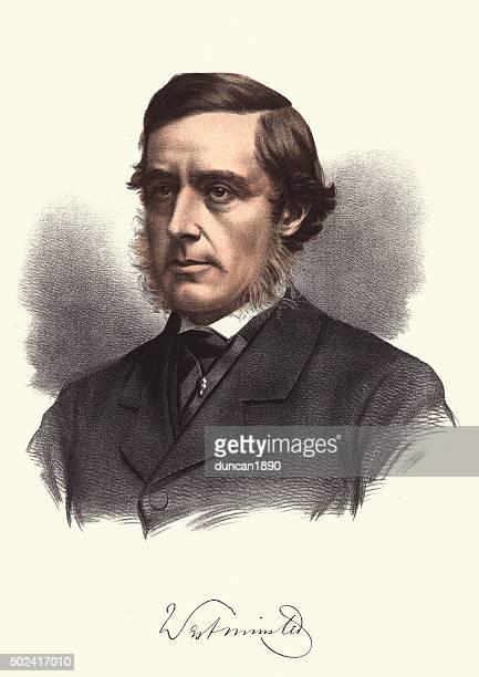 eminent victorians - hugh grosvenor, 1st duke of westminster - duke of westminster stock illustrations
