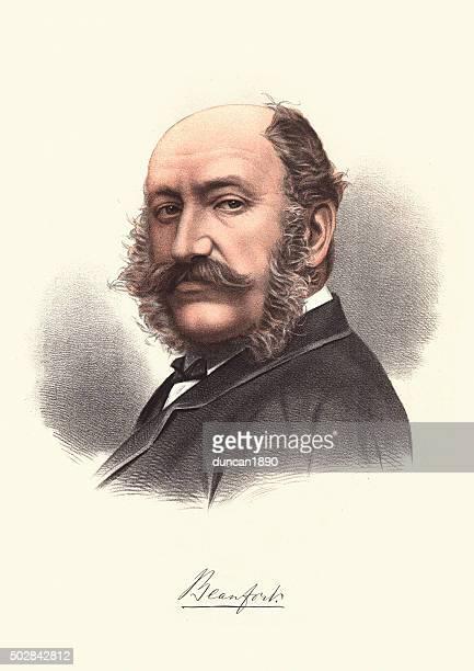 bildbanksillustrationer, clip art samt tecknat material och ikoner med eminent victorians - portrait of henry somerset duke of beaufort - duke