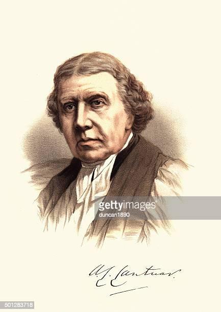 ilustrações, clipart, desenhos animados e ícones de eminente victoria-retrato de tait, o arcebispo de canterbury - arcebispo de cantuária