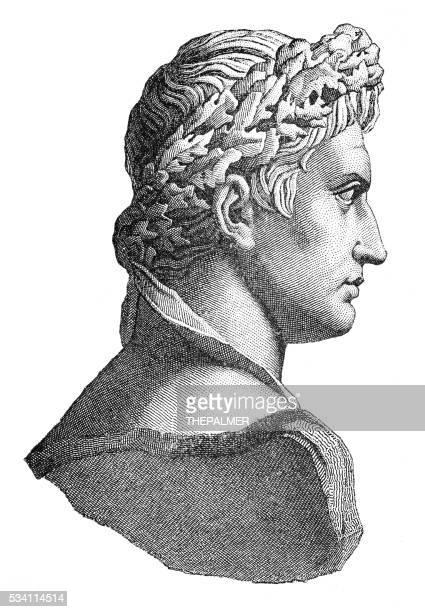 Emperor Julius Caesar engraving 1894