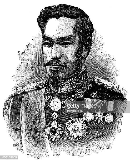 emperor meiji - only japanese stock illustrations, clip art, cartoons, & icons