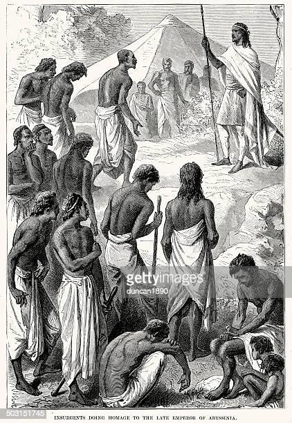 emperor of abyssinia - ethiopia stock illustrations, clip art, cartoons, & icons