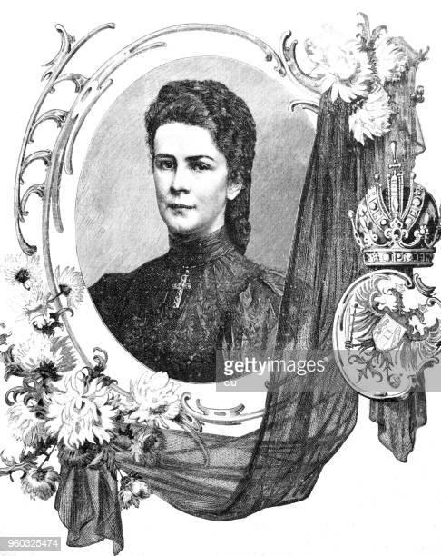 empress elisabeth of austria - empress stock illustrations, clip art, cartoons, & icons