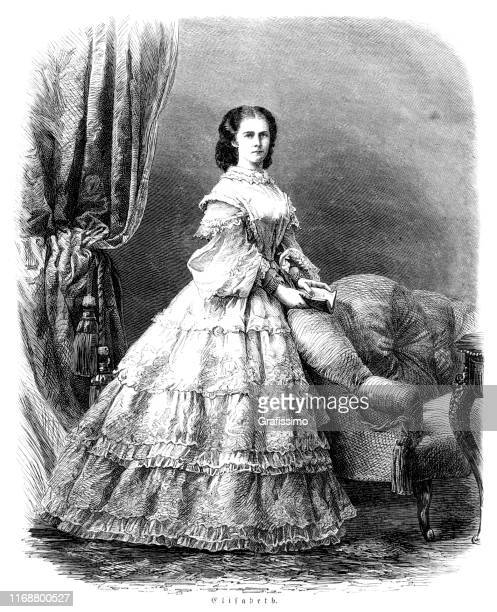 empress elizabeth of austria and queen of hungary known as sissi - empress stock illustrations