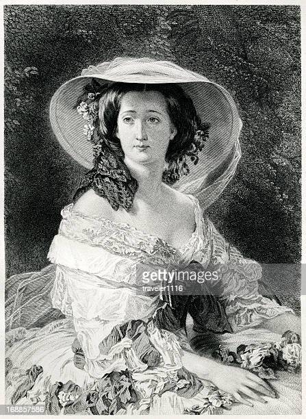 empress eugenie - france stock illustrations