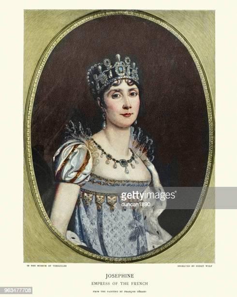 empress josephine - tiara stock illustrations, clip art, cartoons, & icons