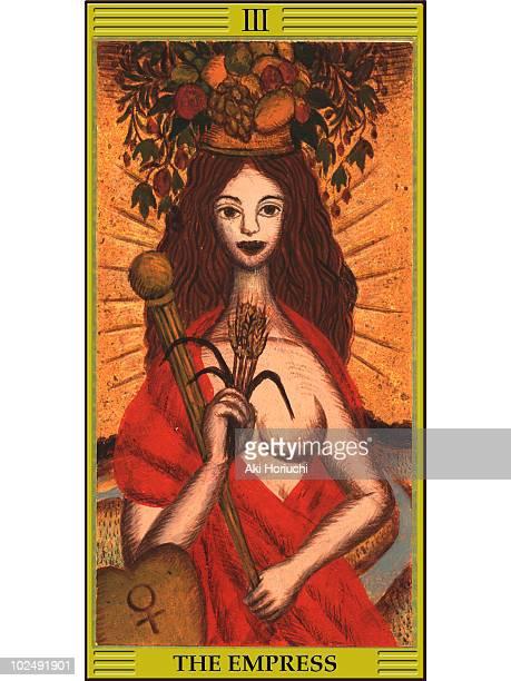 empress tarot card - tarot cards stock illustrations, clip art, cartoons, & icons