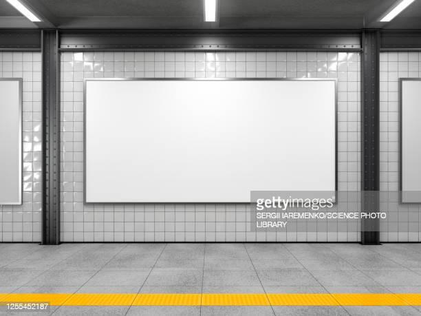 empty billboard, illustration - horizontal stock illustrations