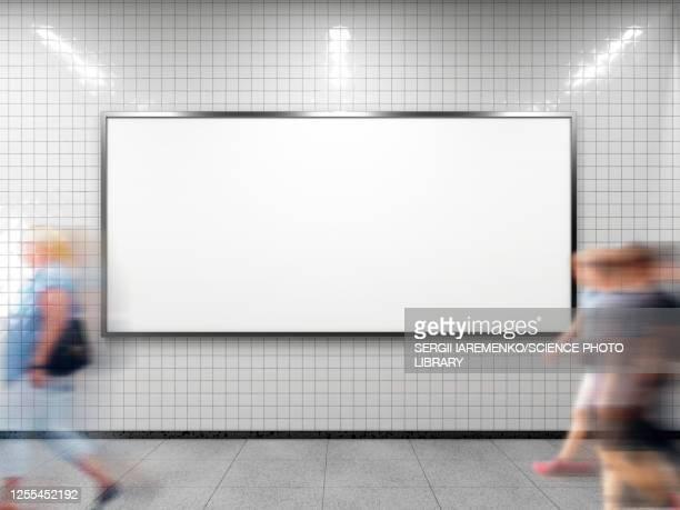 empty billboard, illustration - business stock illustrations