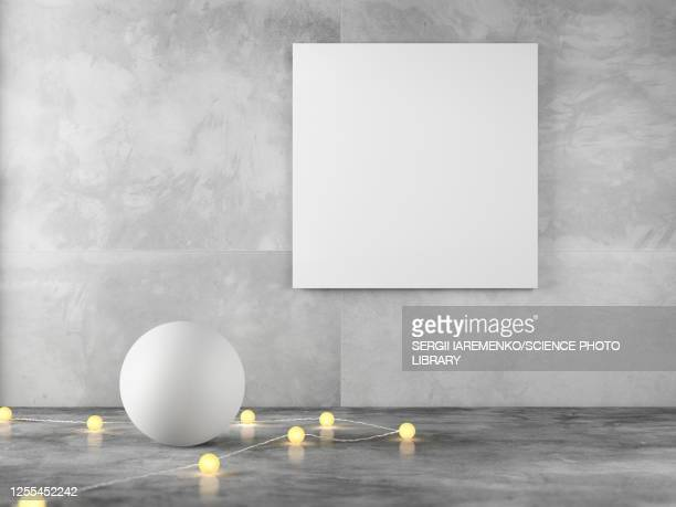 empty canvas in room, illustration - no people stock illustrations
