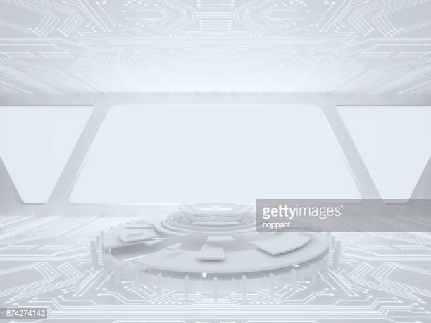 Empty Futuristic room