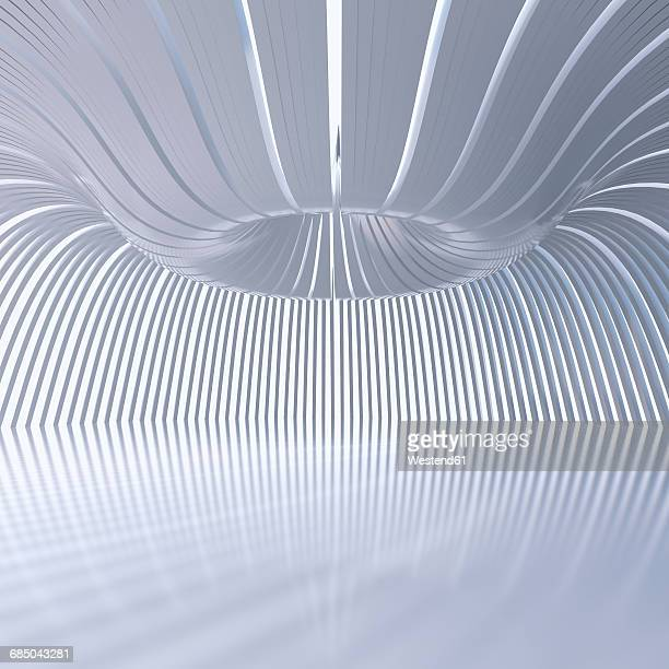 empty hall in a modern building, 3d rendering - architectural dome stock illustrations, clip art, cartoons, & icons