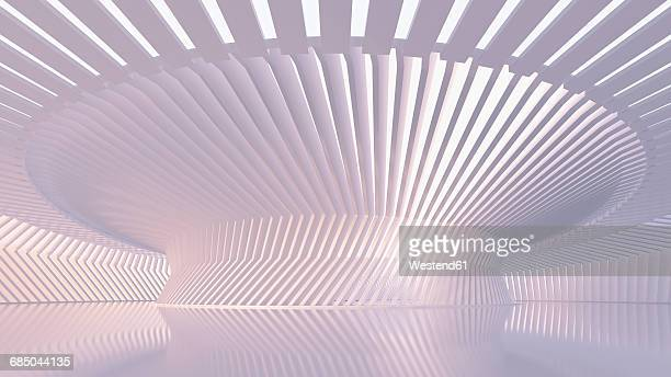 Empty hall in a modern building, 3D Rendering