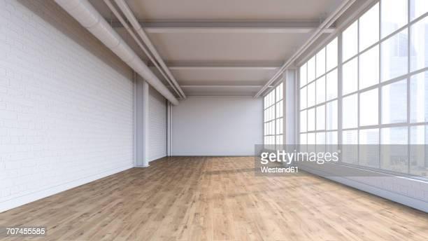 Empty loft, 3D Rendering