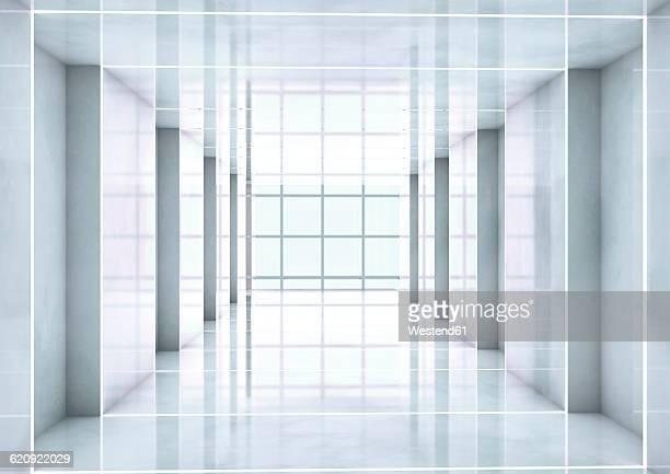 Empty room, 3D Rendering