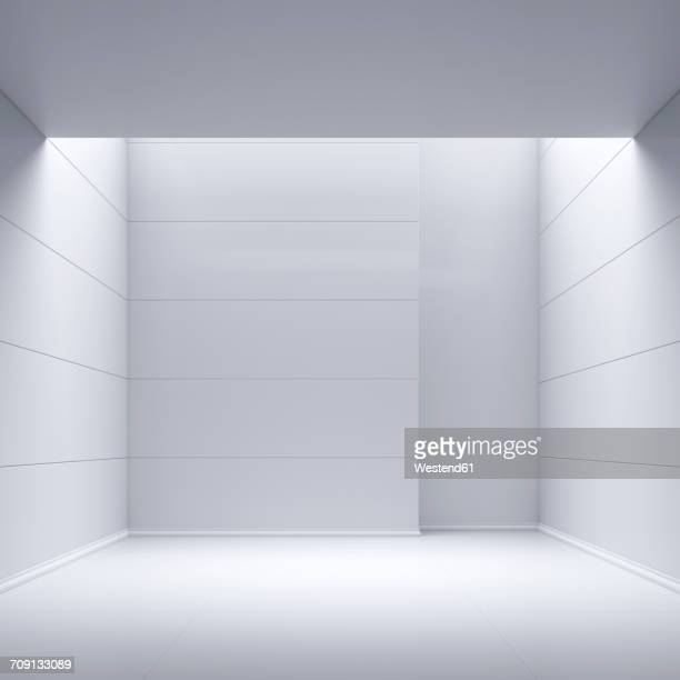 empty room, 3d rendering - copy space stock illustrations