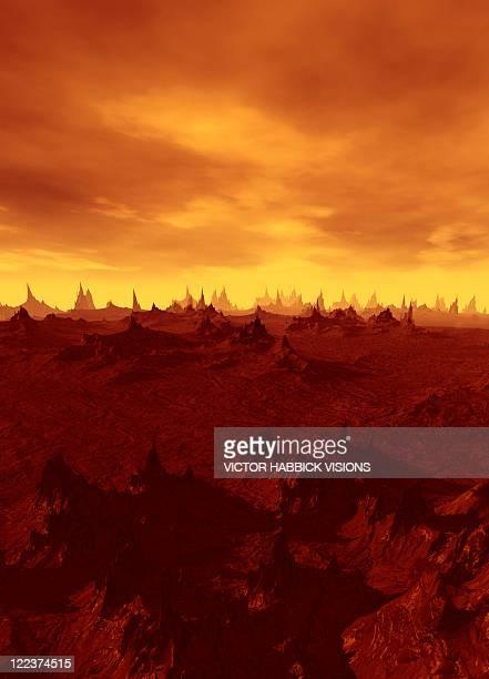 end of the world, conceptual artwork - 内陸部の岩柱点のイラスト素材/クリップアート素材/マンガ素材/アイコン素材