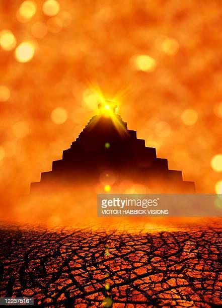 ilustraciones, imágenes clip art, dibujos animados e iconos de stock de end of the world in 2012 conceptual image - calendario maya