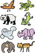 endangered species stick figures