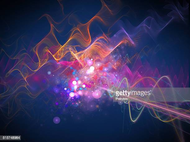 Energy wave, futuristic background