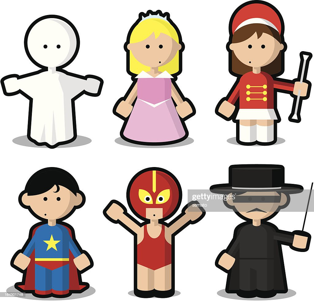 Enfants en costumes pour carnaval ou Halloween