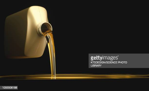 engine oil being poured from a bottle, illustration - black background stock illustrations