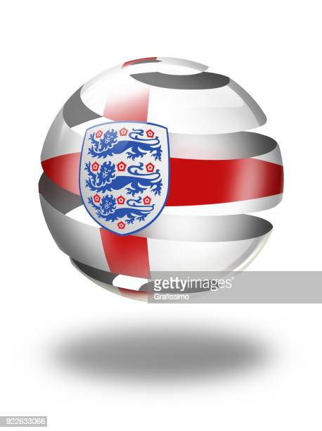 England button with english flag isolated on white