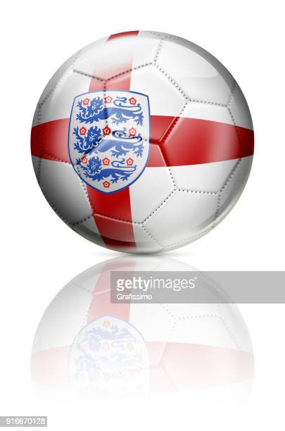 England United Kingdom soccer ball with flag isolated on white