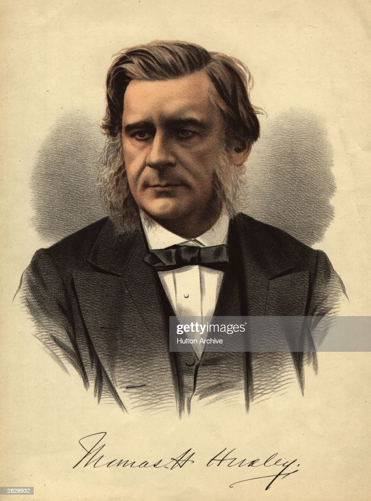 English biologist Thomas Henry Huxley (1825 - 1895), professor of natural history at the Royal School of Mines and foremost scientific supporter of Charles Darwin's theory of evolution.