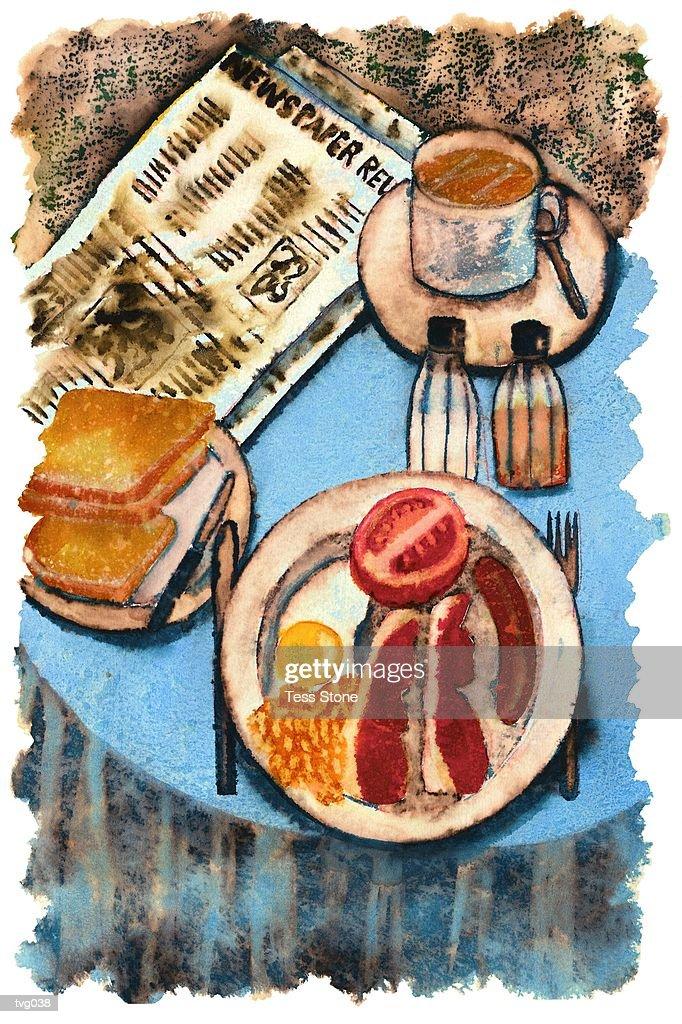 English Breakfast : Ilustración de stock