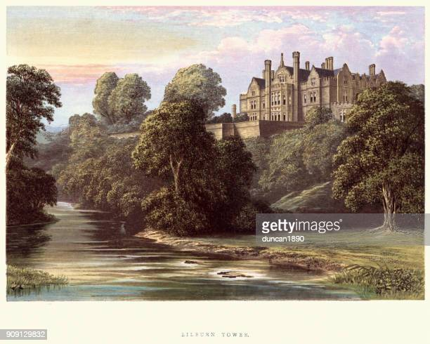 English Country Mansions - Lilburn Tower, Northumberland, 19th Century