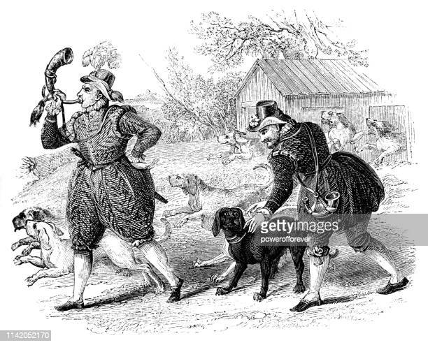 English Huntsmen with Hounds in the Late 16th Century