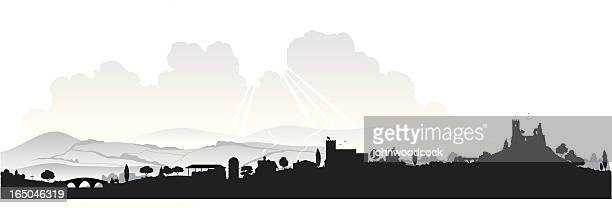 english landscape - panoramic stock illustrations