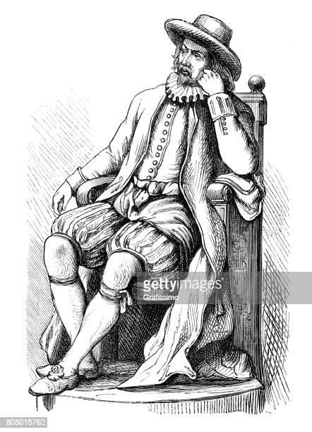 Engels filosoof portret van Sir Francis Bacon